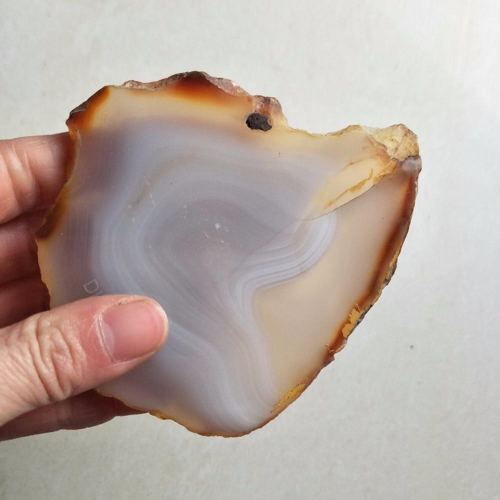 DHX SW уникальный натуральный кристаллический камень, необработанный Агат, ломтик для горки