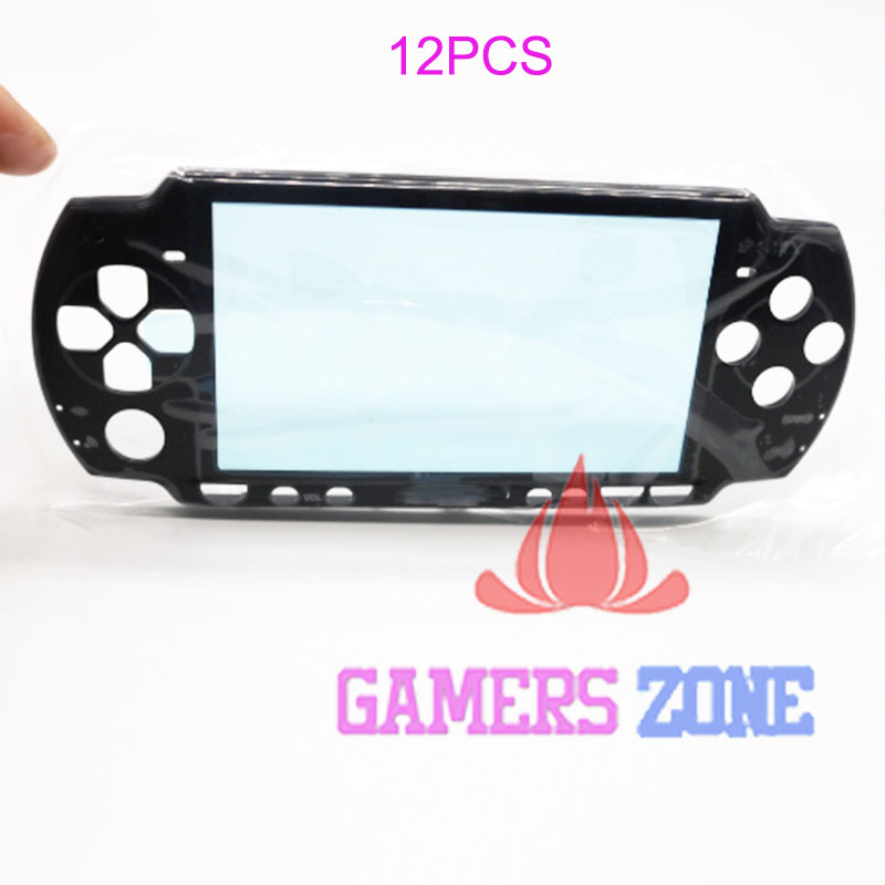 12 STUKS Zwart Front Behuizing Shell Faceplate Case Onderdelen Vervanging voor Sony PSP 2000 Console-in Gevallen van Consumentenelektronica op  Groep 1