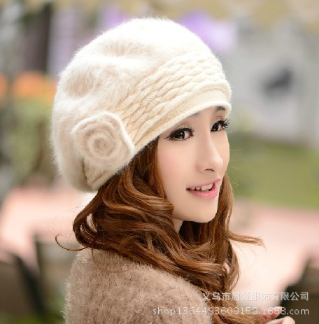 2014 Winter warm and fashion style women Berets pure color beanies for  female casual occation hats for women D055-in Berets from Apparel  Accessories on ... 51f6dac1b