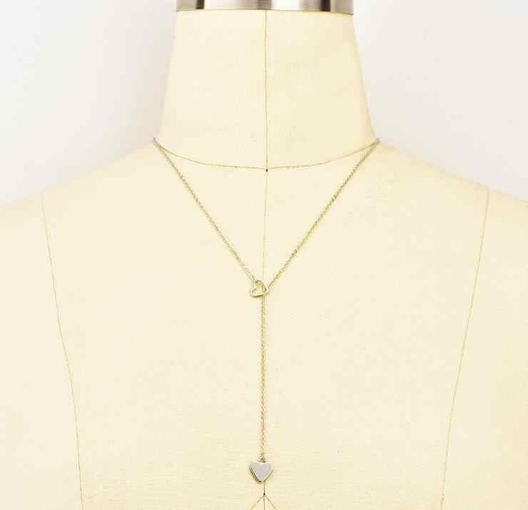 Hợp thời trang Cá Tính Trái Tim Dây Chuyền Phụ Nữ Tuyên Bố Cổ Vòng Cổ Mujeres Choker Dây Chuyền Bijoux Đồ Trang Sức Quà Tặng N5118