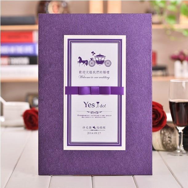 aliexpress buy new arrival purple wedding guest book 2015