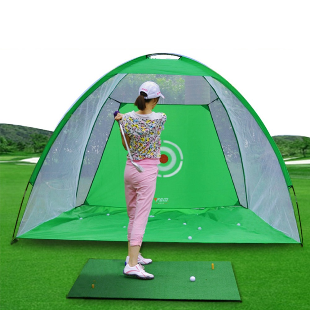 PGM Golf Cage Practice Hitting Net Golf Practice Nets Practice Tent Golf Training Equipment LXW002