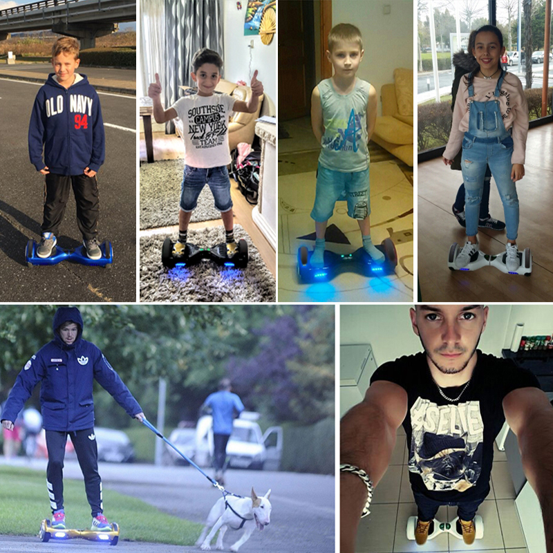 4 Colors Self Balancing Hoverboard or Two Wheels Skateboard with LED Light 5