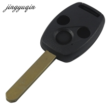 jignyuqin 3 Buttons Remote Key Shell for Honda Accord Insight CRV Civic Odyssey Pilot Ridgeline Car