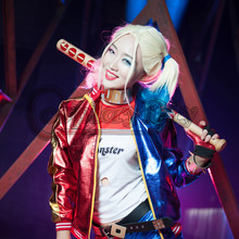 Cosplaydiy Suicide Squad Harley Quinn Cosplay Costume Adult Women Girls For Halloween Clothing Free Shipping