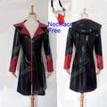 Devil May Cry Dante 4 Traje de Invierno Abrigo Hombres de la Chaqueta de Cuero de LA PU de Señora de Halloween Cosplay Traje de Envío libre del Collar