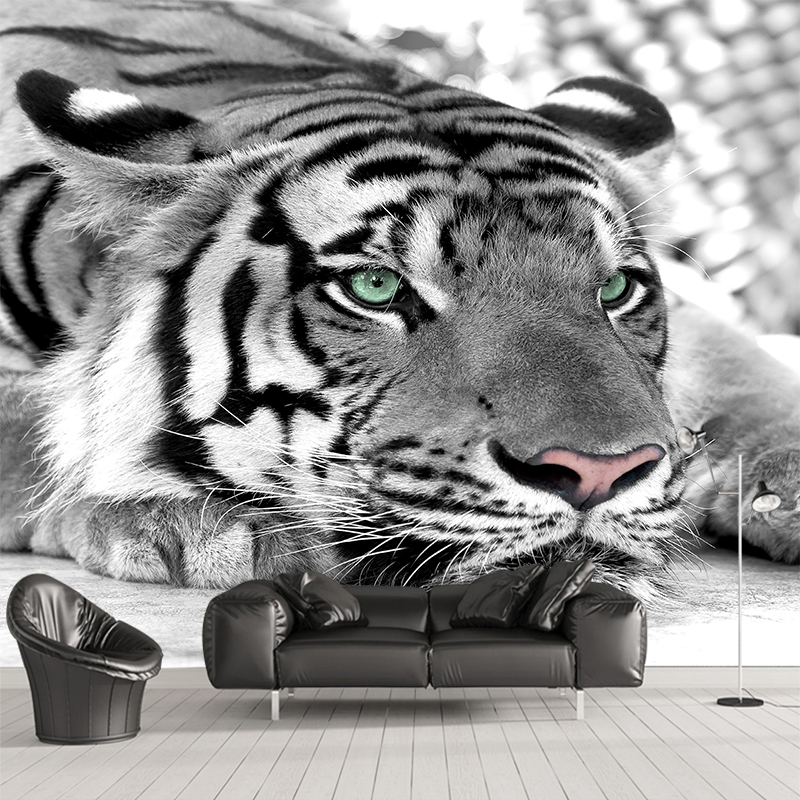 Custom any size wall mural wallpapers Modern fashion Tiger Perspective Wall Sticker YBZ104