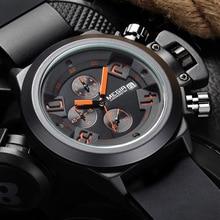 2016 new fashion military styligh MEGIR brand design army cool man male clock sport rubber business luxury wrist quartz watch