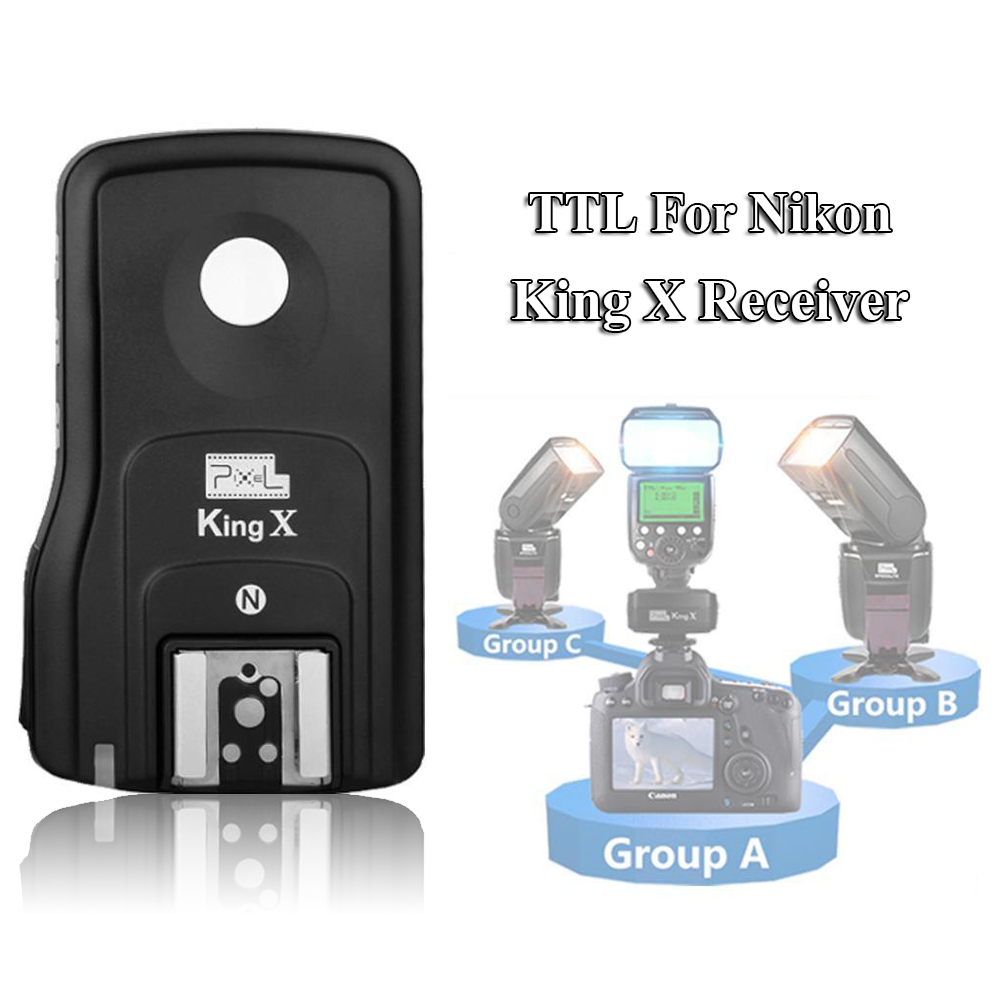 INSEESI Pixel King X Receiver RX 2.4G TTL Wireless Flash Trigger High Speed 1/8000S for Nikon Camera D7000 D3100 D5200 D600 D90 free shipping 1pc high quality 100a mager ssr mgr 3 38100z ac ac three phase solid state relay ac control ac 100a 380v