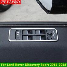 ABS Maçaneta Da Porta Janela Titular Elevador Botão Interruptor Do Painel Interior Da Tampa Da Guarnição Para a Descoberta de Land Rover Sport 2015 2016 2017 2018