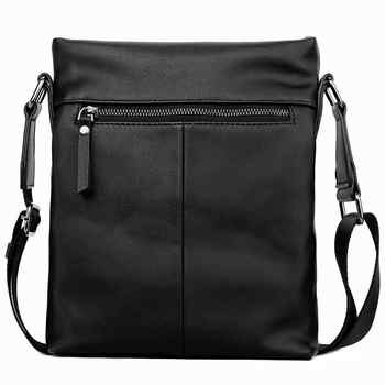 VICUNA POLO Classic Men Pure Color Messenger Bag With Back Pocket Man Handbag Beach Bag Black Casual Men\'s Crossbody Bag bolsa
