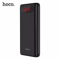 HOCO B20A Universal 20000mAh Dual USB Power Bank 18650 Battery Portable Charger External Battery Bank For