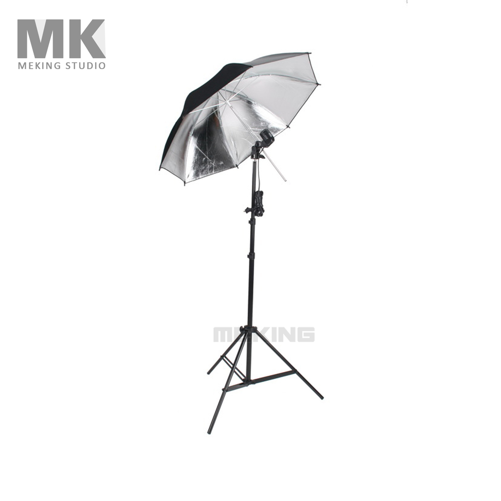 Photo Studio Lighting Umbrellas Video Light kit 33 Black & Silver umbrella + E27 T-bulb holder + W803 light stand harman kardon onyx studio 2 black