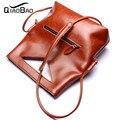 QIAO BAO 100% Genuine leather bag women bags handbags women famous brands designer high quality big size women shoulder bag