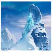 5X7 футов Виниловый фон для фотосъемки с изображением снежного замка