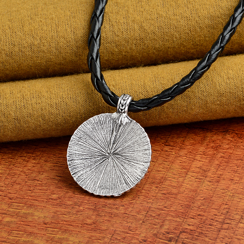 Flower of Life Necklace Yoga Chakra Mandala Pendant Necklace Ancient silver Zen Buddha Buddhism Amulet Religious Jewelry Gift 4