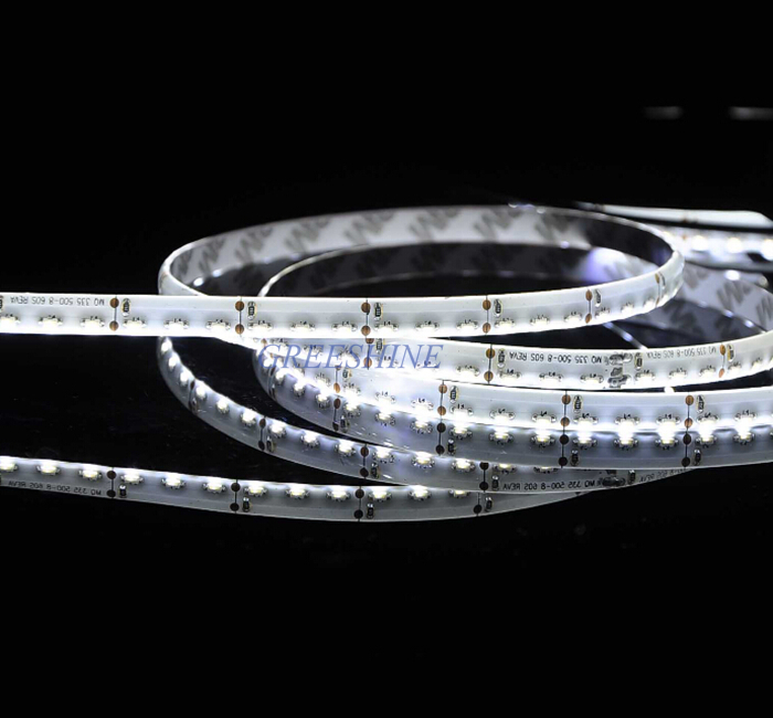 Side View 335 SMD LED Strip 8MM or 5MM PCB 120leds/M IP65 with Silicon Glue Waterproof DC12V 24V LED car light Tape Freeshipping