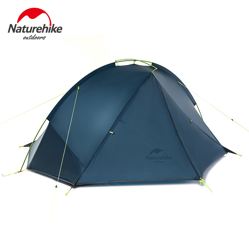 Naturehike 2 Person Hiking Tent Pro 20D Silicone Fabric Wateproof Single Pole Light Tent Camping Cycling Backpacking 3 Season