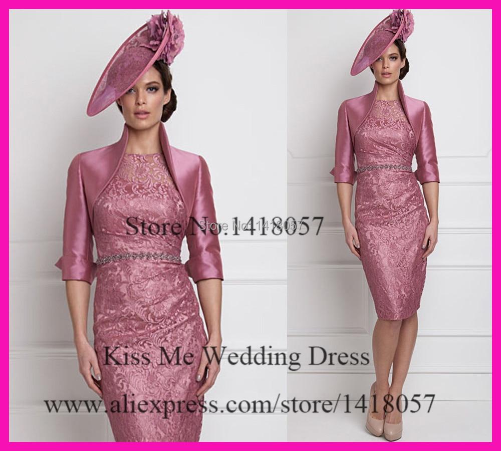Elegantes Corto De Color Rosa Lf2739 Madre De La Novia