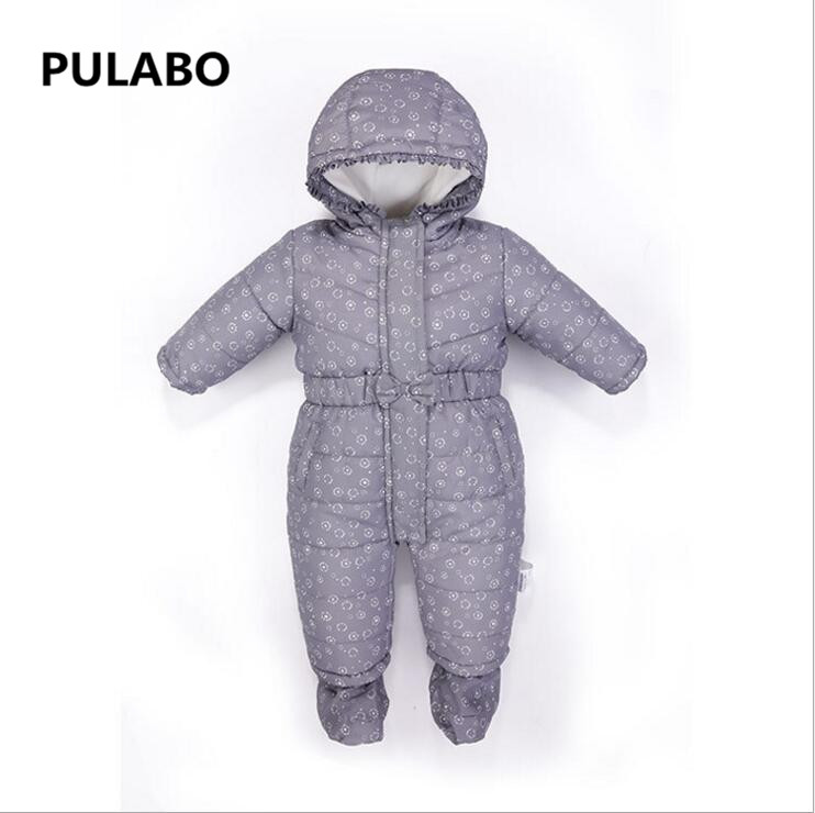 db840c542d80 High Quality Baby Rompers Winter Thick Cotton Boys Costume Girls ...