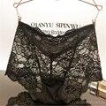 Mulheres sexy calcinha cheia do laço ver através de cuecas da menina underwear bonito lingerie intimate transparente tamanho grande lolita big cuecas