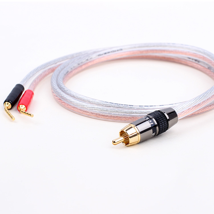 skw rca audio cable 2 banana male to male jack to 2 banana plug speaker wire  amplifier splitter cable for home theater on aliexpress com | alibaba group