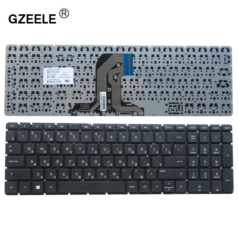 GZEELE Russian Laptop Keyboard For HP PK131EM2A05 SN7145 SG-81300-XXA TPN-C126 HQ-TRE RTL8723BE 15-ac 15-af 250 G4 256 G4 255 G4