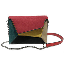цена на Fashion Quality Leather Patchwork Women Messenger Bag Female Chain Strap Shoulder Bag Small Criss-Cross Ladies' Flap Bag