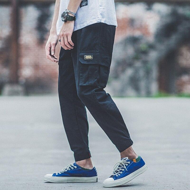 Army Green Fashion Men Jeans Jogger Pants Punk Style Big Pocket Cargo Pants Youth Streetwear Hip Hop Jeans Homme pantalon hombre