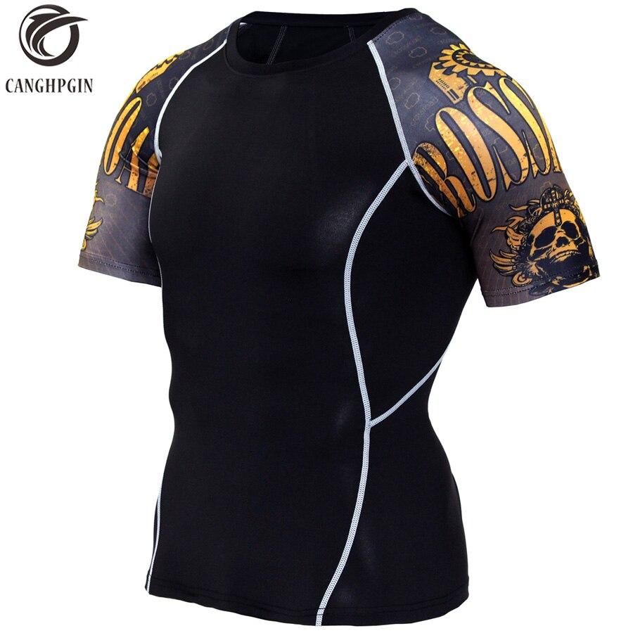 Running Shirt Men Compression Tights Fitness Tank Top MMA Rashgard Anime 3D T Shirt Wolf Skull Short Sleeve T Shirt Men Gym Wear стоимость