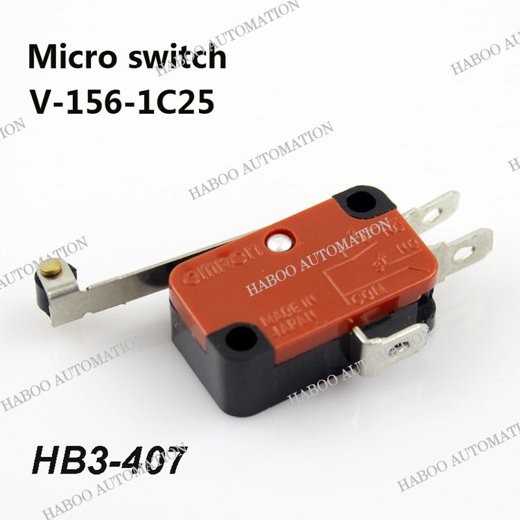 10pcs packing 1NO+1NC limit switch Long Lever AC 250V HB3-407 HABOO factory directly electrical limit switch shipping free