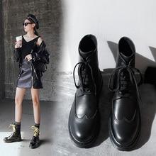 INS/популярные женские ботильоны из натуральной кожи; размеры 34-39; мотоциклетные ботинки; Ботинки martin; Женская обувь в европейском и американском стиле