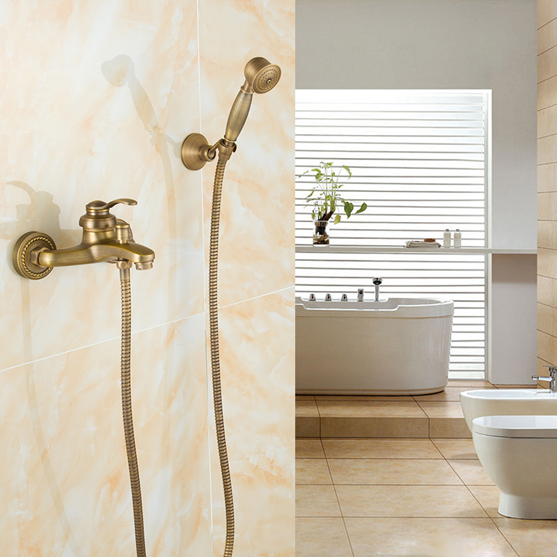 ФОТО Wall mounted Bathtub Shower set Bathtub shower faucet with Hand shower XR-GZ-8301