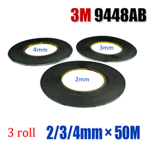 3M 9448AB  Mixed sixe 2/3/4mm* 50M  Strong Sticky Glue Tape for Smart Phone Tablet Camera Lens Display Bezel Fix