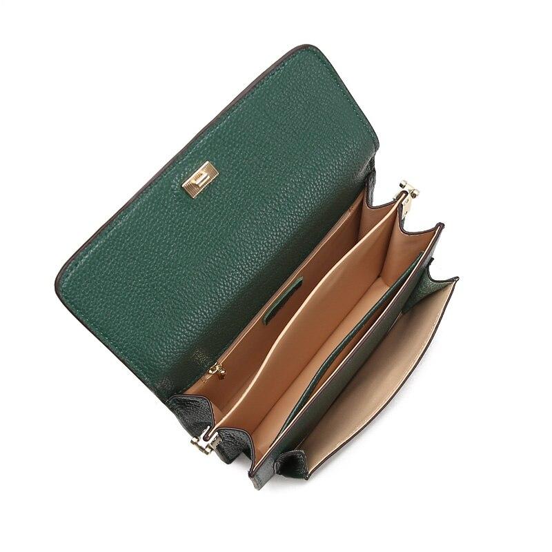 JIANXIU marka torba ze skóry naturalnej krokodyla wzór kobiety Messenger torby mody skóry wołowej kobiet torba na ramię Crossbody w Torebki na ramię od Bagaże i torby na  Grupa 3