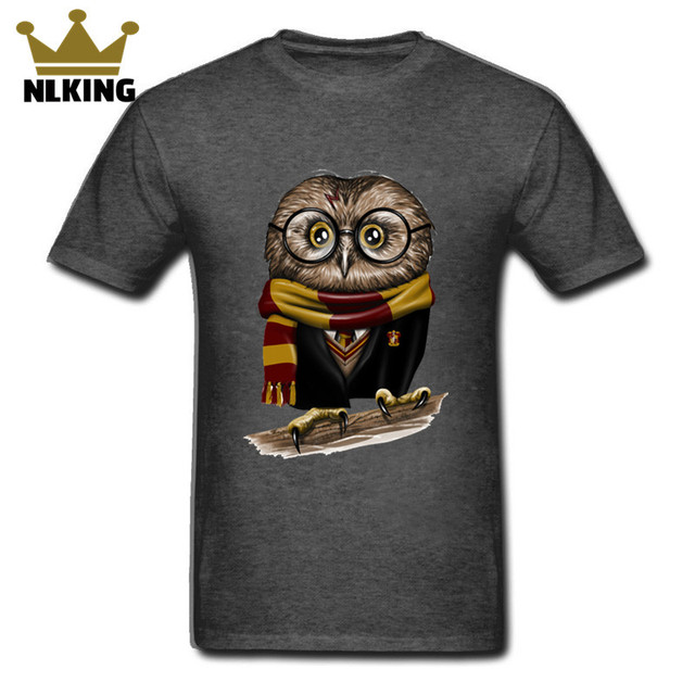 0c46f0b9 Men T Shirts Plus Size 2018 vintage cute owl Harry Owly Potter Short Sleeve  Tops Hipster