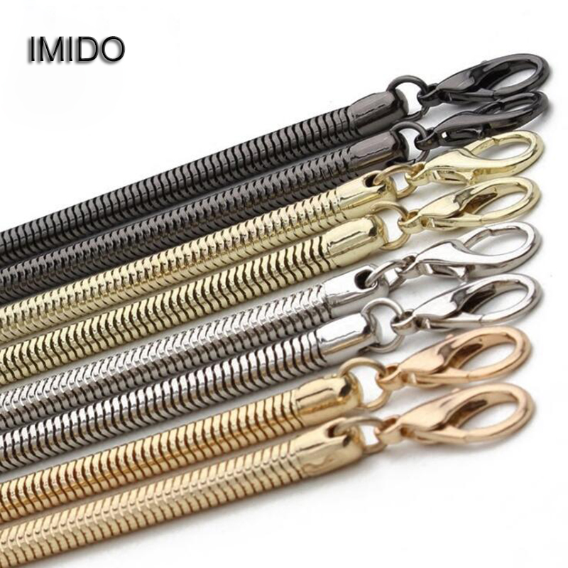 IMIDO Big Promotion 120cm Accessories For Bags Metal Chain Shoulder Strap Handbag Small Messenger Bag Handles Gold Silver STP067