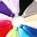 12pcs/lot 60mm Mixed Cotton Tassels Earrings Silk Charm Pendant Satin Tassels for DIY Jewelry Making Findings Materials F3359