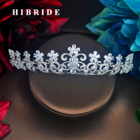 HIBRIDE Sparkling Plant Crown&Tiaras Women Bridal Hair Accessories Headband Head Crown Princess Jewelry Wholesale Price C 83