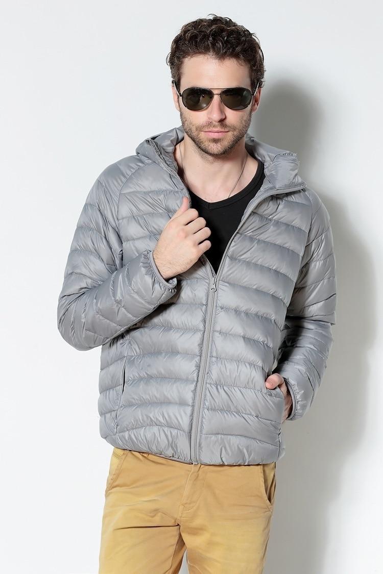 Men White Duck Down Jacket 2020 New Portable Hooded Down Coat Ultralight Men Winter Coat Warm Thermal Down Parkas 13
