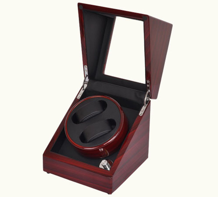 2+0 Winder watch Box For Mechanical Watches watch winder lt wooden automatic rotation 2 0 watch winder storage case display box white