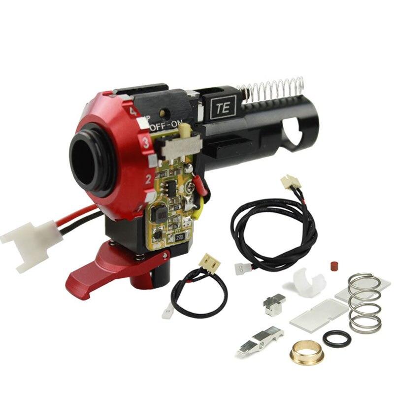 Nouvelle Vente Chaude CNC En Aluminium Hop Up Chambre Avec LED Pour Airsoft AEG version 2 Boîte De Vitesses M4 M16 Chasse Accessoires