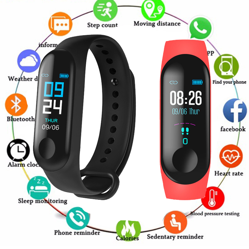 M3 Smart Band Sport Bracelet Fitness Tracker reloj inteligente Wristband Monitor 0.96 inch Heart Rate Monitor Smart band PK Mi 3M3 Smart Band Sport Bracelet Fitness Tracker reloj inteligente Wristband Monitor 0.96 inch Heart Rate Monitor Smart band PK Mi 3