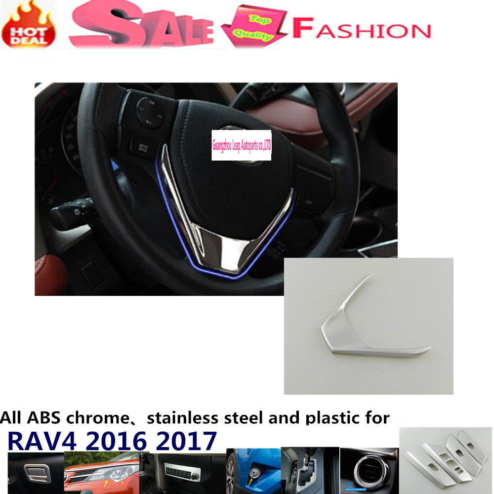 font b Car b font detector stick styling cover ABS Chrome Steering wheel font b
