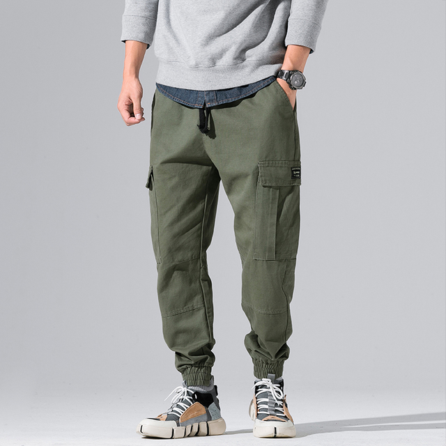 2e203a20166 2018 New Autumn Track Pants Men Trousers Men Streetwear Mens Joggers Pants  multi-pocket Casual Army Green Tactical Pants