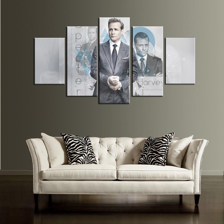 online get cheap custom vinyl wall art aliexpress com alibaba group fashion tv play suits gabriel macht lawyer vinyl art wall sticker oil painting on canvas for
