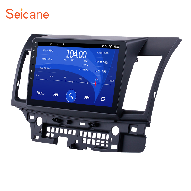 Seicane Android 7.1/6.0 Quad Core Car Stereo GPS Navigation Radio Player for 2008-2015 Mitsubishi Lancer-ex with FM 10.1
