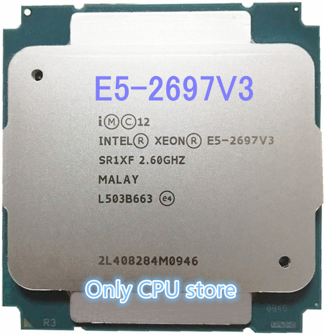 Оригинальный процессор Intel Xeon E5 2697V3 QS, 14 ядер, 2,60 ГГц, 35 Мб, 22 нм, Φ E5 2697 V3, QS