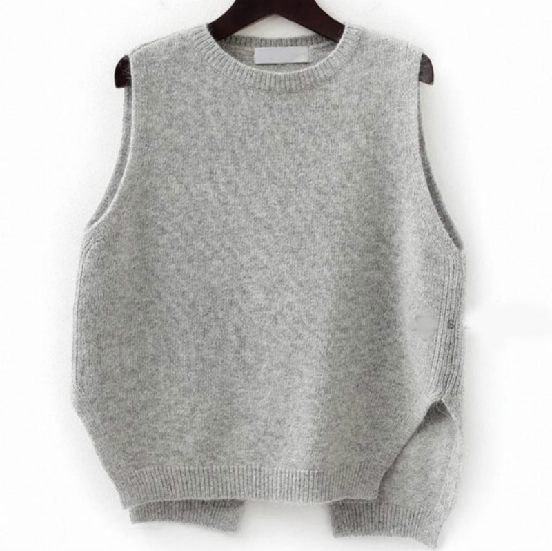 Women Spring Autumn Cashmere Knitted Sleeveless Sweater Vest ...