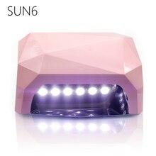SUN6-36W UV LED Lamp UV Nail Dryer SUN Light 365-405nm Nail Lamp Diamond Shaped Curing for UV Gel Nails Polish Nail Art Tools